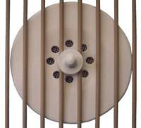 Bird cage fan heater